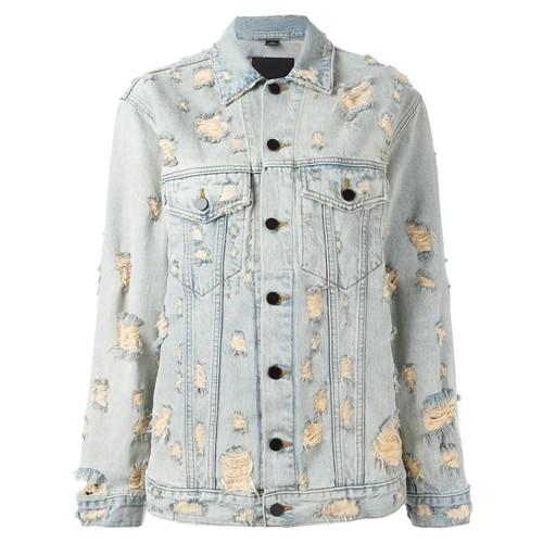 ALEXANDER WANG Distressed Denim Jacket