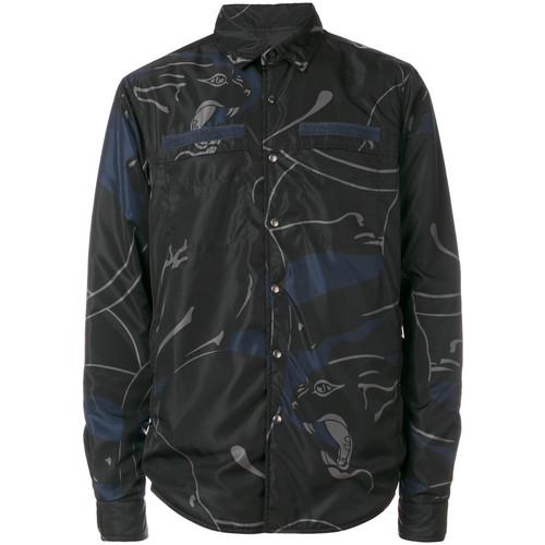 reversible panther print jacket