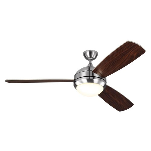 Discus Trio Max Ceiling Fan [Fan Body and Blade Finish : Brushed Steel with Silver]