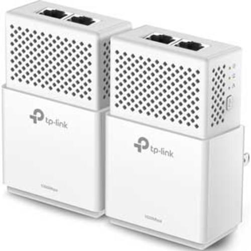TP-Link 2-Port Gigabit Powerline Starter Kit - HomePlug AV2 Compliant, 2x Gigabit Ethernet Port per Adapter, Plug and Play, 128-bit AES, Pair Button, LED Indicators, RoHS - TL-PA7020 KIT_V2