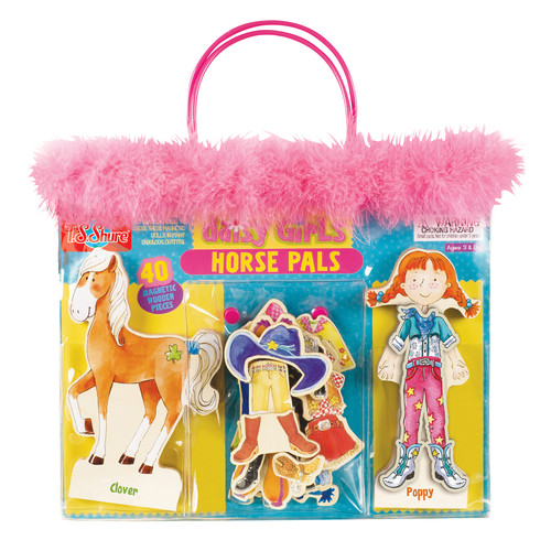 TS Shure Daisy Girls Horse Pals Wooden Magnetic Dress Up Set