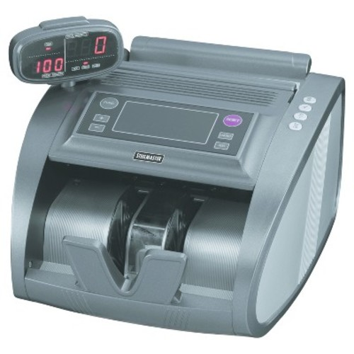 SteelMaster 4820 Bill Counter with Counterfeit Detection, 1200 Bills/Min, Charcoal Gray