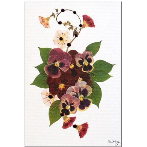 Enchanted Garden-Pansy Patch by Kathie McCurdy, 16x24-Inch Canvas Wall Art
