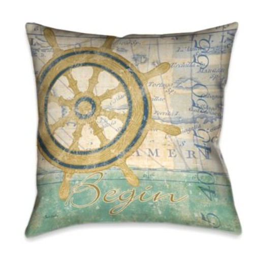 Laural Home Mariner's Sentiment II Square Throw Pillow