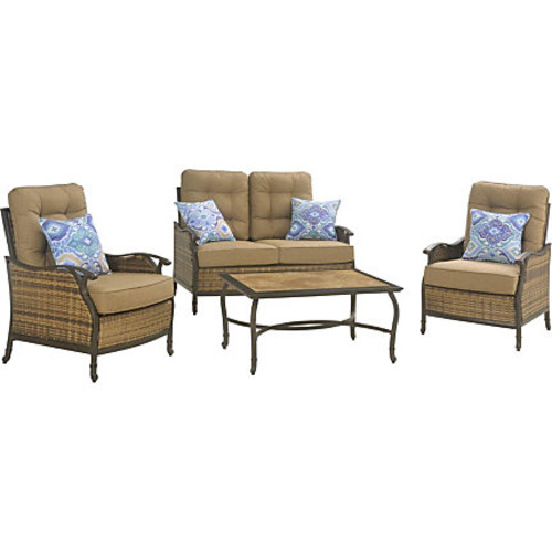Hanover Hudson Square 4-Piece Seating Set - HUDSONSQ4PC