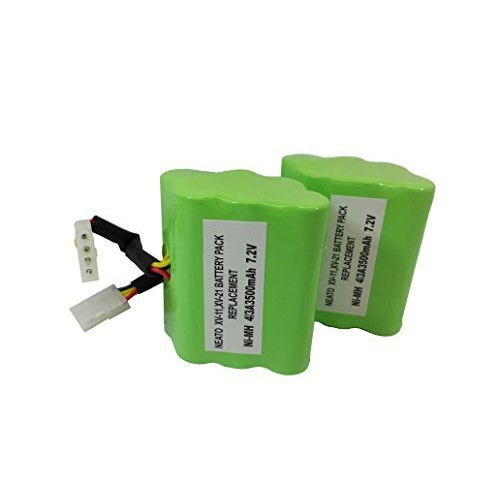 Neato XV-12 Vacuum Cleaner Battery 945-0005 (7.2v 3500 mAh 25.2 Whr) Battery - Replacement For Neato Robotics 945-0005, Set of Two