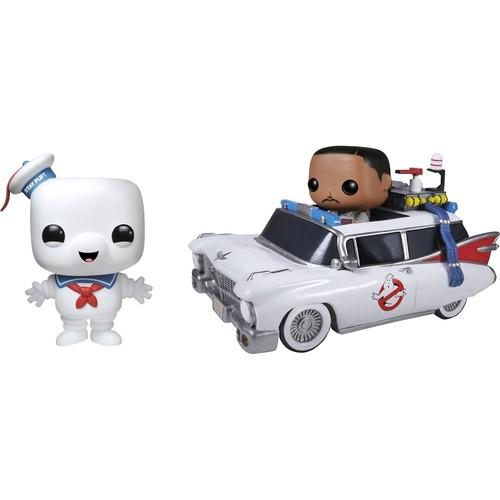 Funko - Ghostbusters Pop! Movies Vinyl Collectors Set: Stay Puft Man, Ecto 1, Zeddemore
