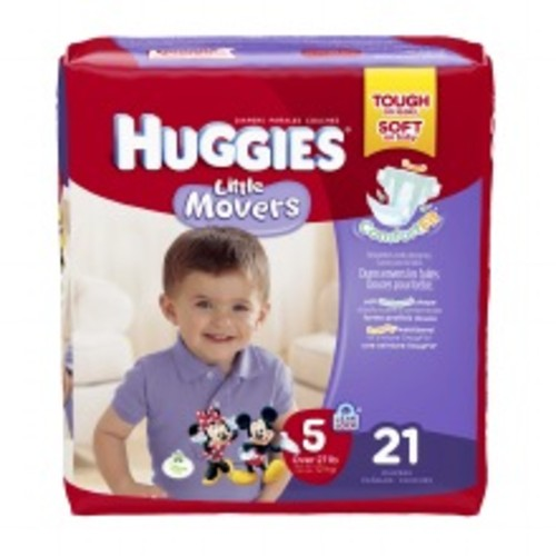 Huggies Little Movers Diapers, Size 5
