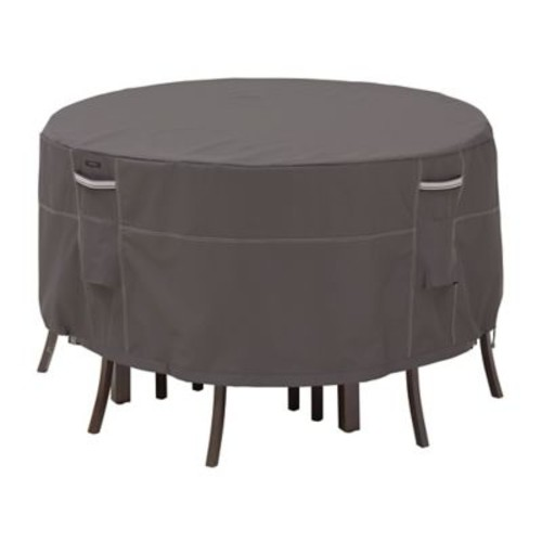 Classic Accessories Ravenna Patio Table and Chair Set Covers, Dark Taupe, Small