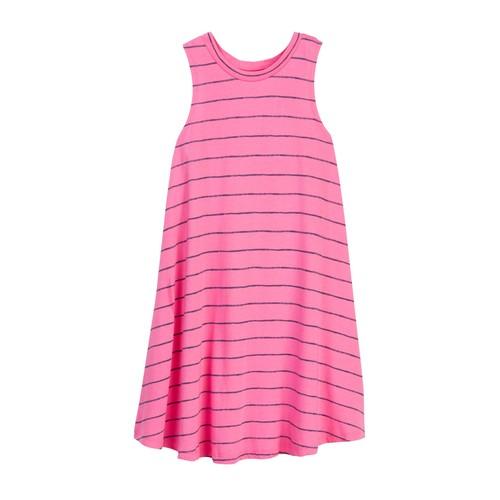 Printed Stripe Swing Dress (Big Girls)