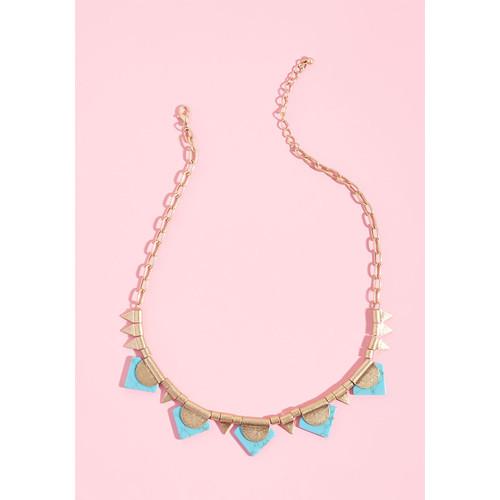 Dreamy Gleam Geometric Necklace