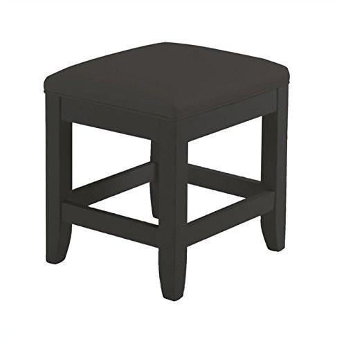Home Styles 5531-28 Bedford Vanity Bench, Black Finish [Black]