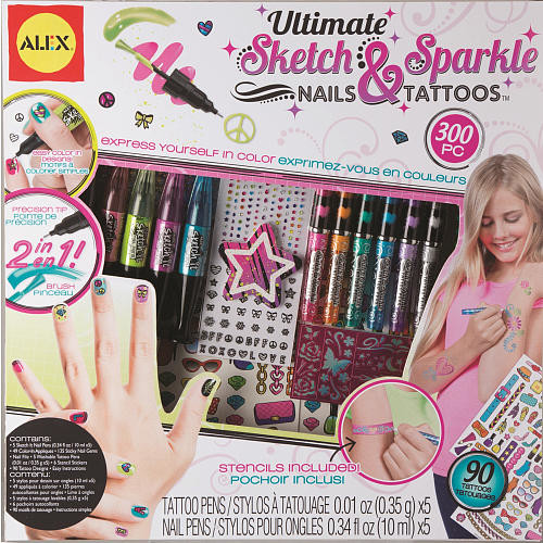 Alex Toys Ultimate Sketch & Sparkle Nails and Tattoos
