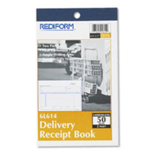 Rediform Delivery Receipt Book, 6 3/8 x 4 1/4, Two-Part Carbonless, 50 Sets/Boo