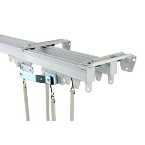 Rod Desyne 72 in. Commercial Wall/Ceiling Double Track Kit