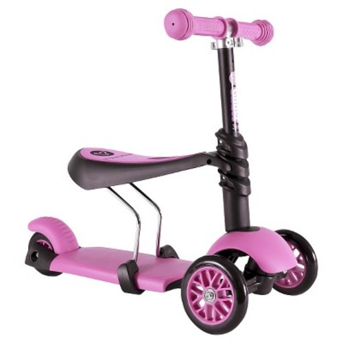 Yvolution Y Glider 3 in 1 Scooter - Pink