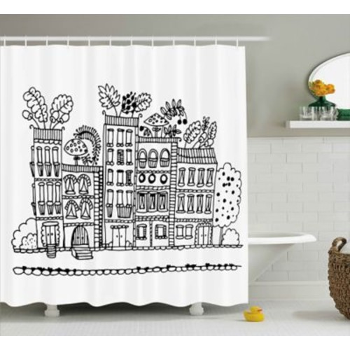 East Urban Home Apartment Decor Shower Curtain; 69'' H x 70'' W