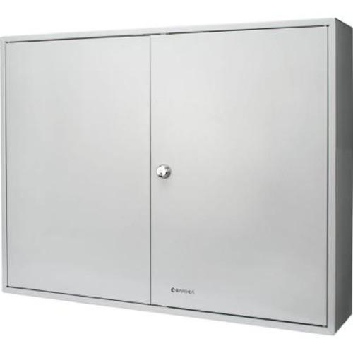 BARSKA 400-Position Steel Key Lock Box Safe with Key Lock, Gray