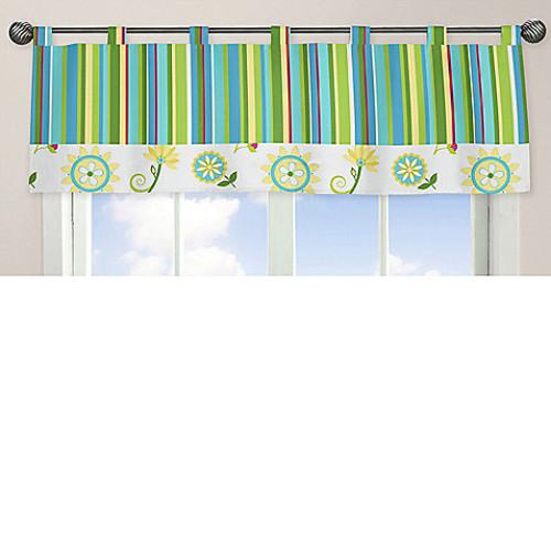 Sweet Jojo Designs Layla Striped Window Valance