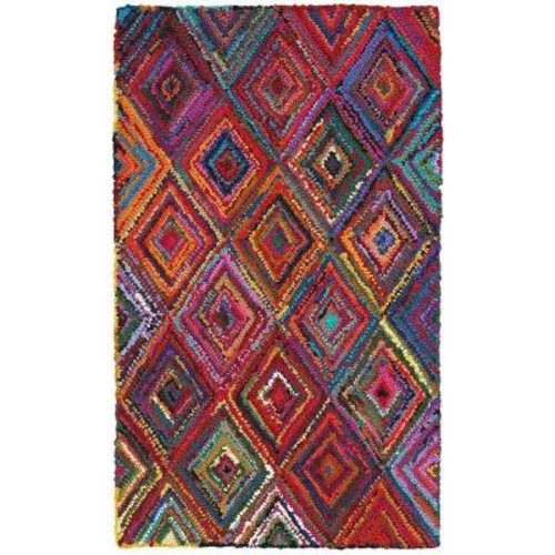 LR Resources Layla Multi 3 ft. 6 in. x 5 ft. 6 in. Chindi Indoor Area Rug