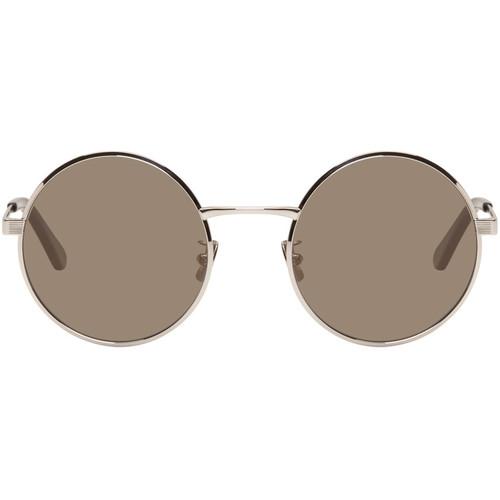 SAINT LAURENT Silver Sl 136 Zero Retro Sunglasses