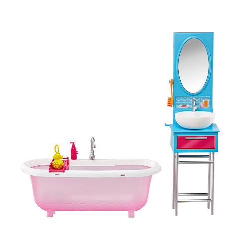 Barbie Doll and Furniture Bathroom Playset