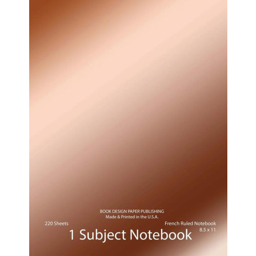 French Ruled Notebook: Sey Ruled