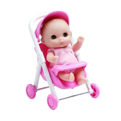 JC Toys 5 Inch Lil' Cutesies Doll with Stroller