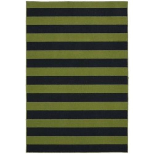 Garland Rug Rugby Sage/Navy Area Rug