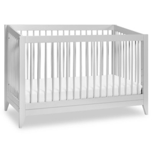 Babyletto Sprout 4-in-1 Convertible Crib with Toddler Bed Conversion Kit in Light Grey