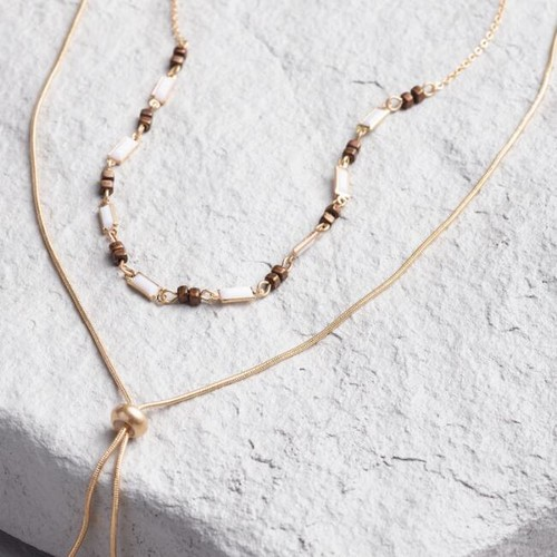 Gold Lariat Choker Necklace