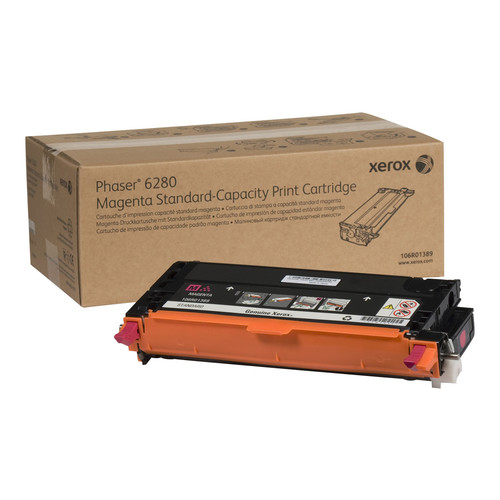 XEROX 106R01389 STANDARD CAPACITY MAGENTA TONER CARTRIDGE (2,200 PAGES) FOR PHASER 6280