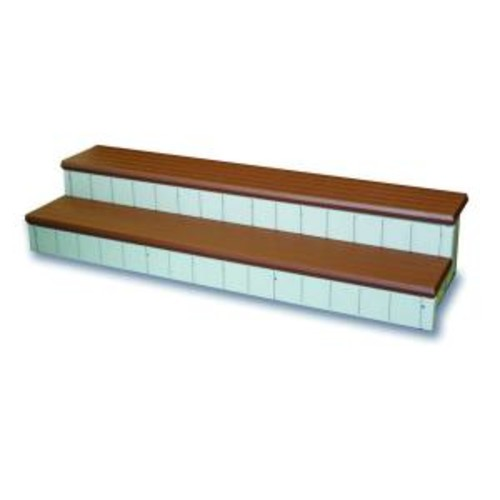 Confer Plastics 2-Tone Hot Tub Steps in Red and Beige