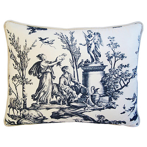 mike seratt of the prized pig Romantic French Toile Pillow