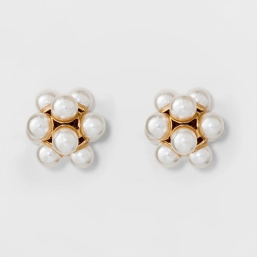 Simulated Pearl Stud Earrings - A New Day G