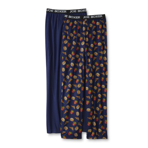 Joe Boxer Boys' 2-Pairs Pajama Pants - Fast Food & Solid