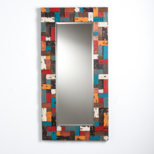 Nautical Smiles Reclaimed Wood Mirror