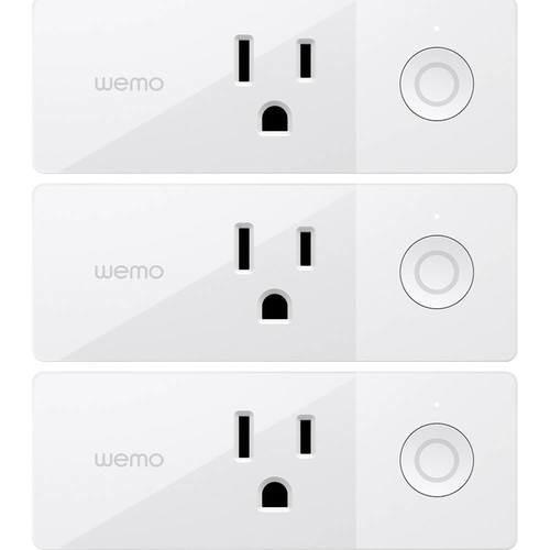 Wemo - Mini WiFi Smart Plug (3-Pack) - White