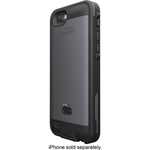 LifeProof - FR Power External Battery Case for Apple iPhone 6 and 6s - Blacktop