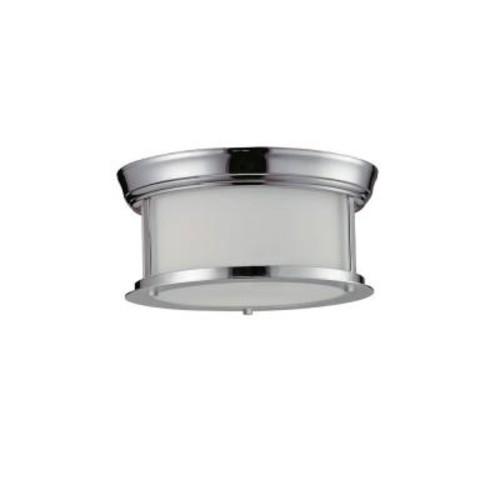 Filament Design Perry 2-Light Chrome Flushmount with Matte Opal Glass