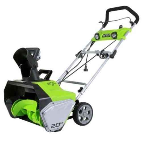 Greenworks 20 in. 13 Amp Electric Snow Blower with Lights