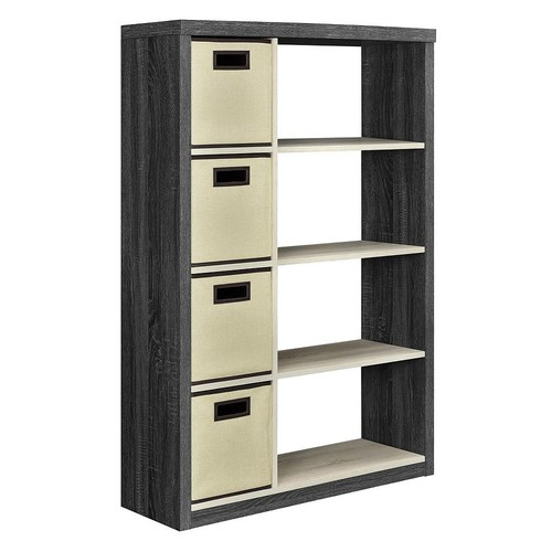 Altra Furniture Winlen Carmen Oak and Natural Oak Storage Open Bookcase