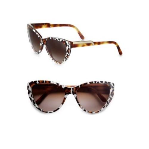 STELLA MCCARTNEY Leopard-Print Cat'S-Eye Sunglasses