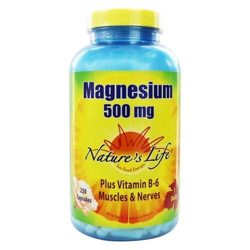 Nature's Life - Magnesium 500 mg. - 250 Capsules