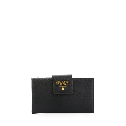 PRADA Small Saffiano Continental Wallet