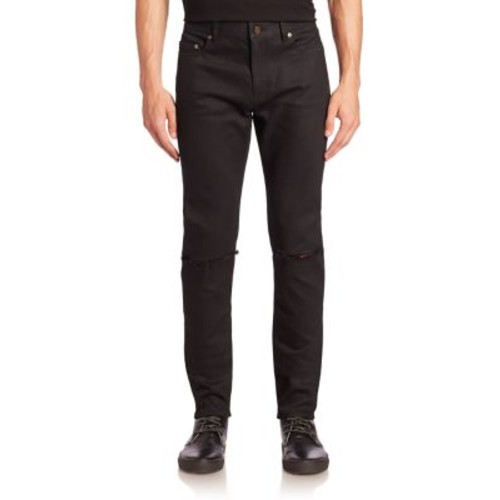 SAINT LAURENT Ripped Knee Skinny-Fit Jeans