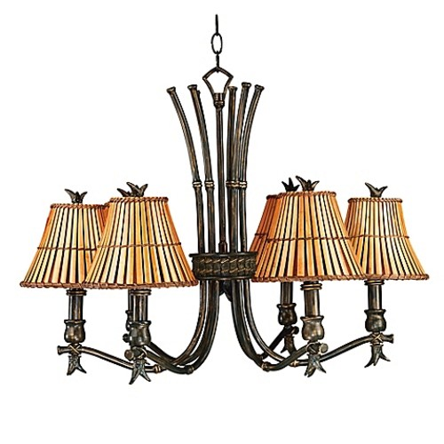 Kenroy Home Kwai 6-Light Chandelier in Bronze