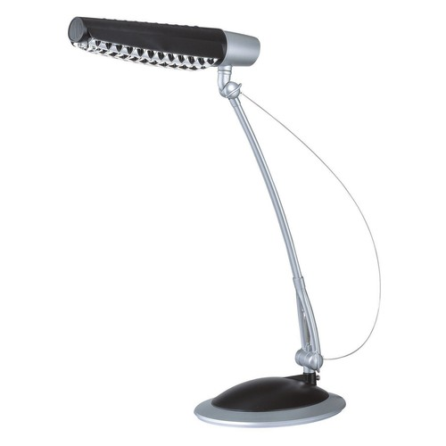 Lite Source LS-769SIL/BLK Tasker 3-in-1 Desk Lamp