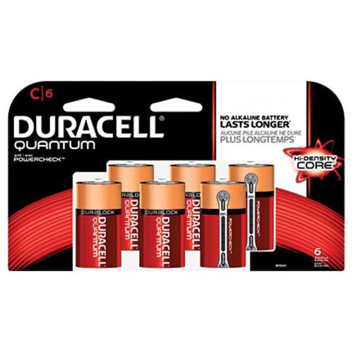 Duracell Quantum Alkaline C Batteries, Pack Of 6