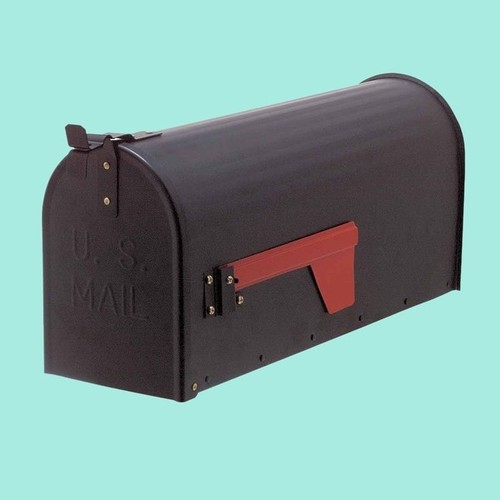 MAIL Black Rural Mailbox Solid Brass | Renovator's Supply